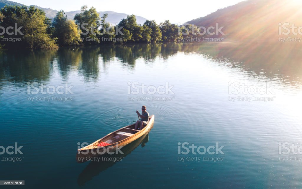 Perfect combination of nature and sport stock photo
