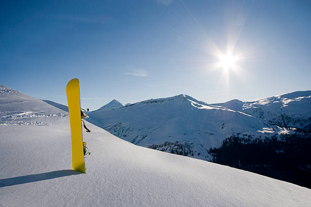 Perfect Conditions Powder snow on a sunny day in the Alps. davelongmedia stock pictures, royalty-free photos & images
