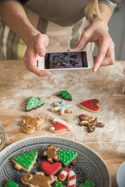 perfekte cookies für perfekte foto - küche deko blog stock-fotos und bilder
