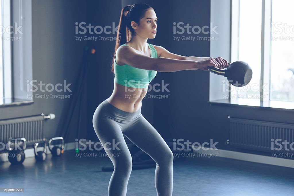 Perfect cross training. stock photo