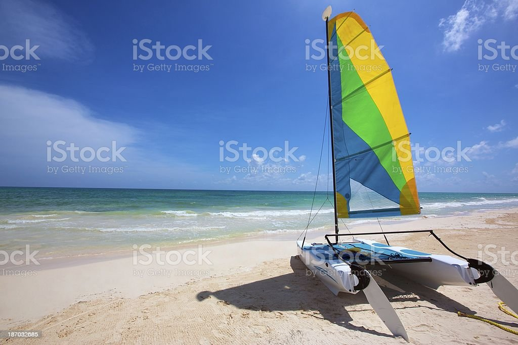 Perfect day for beach royalty-free stock photo