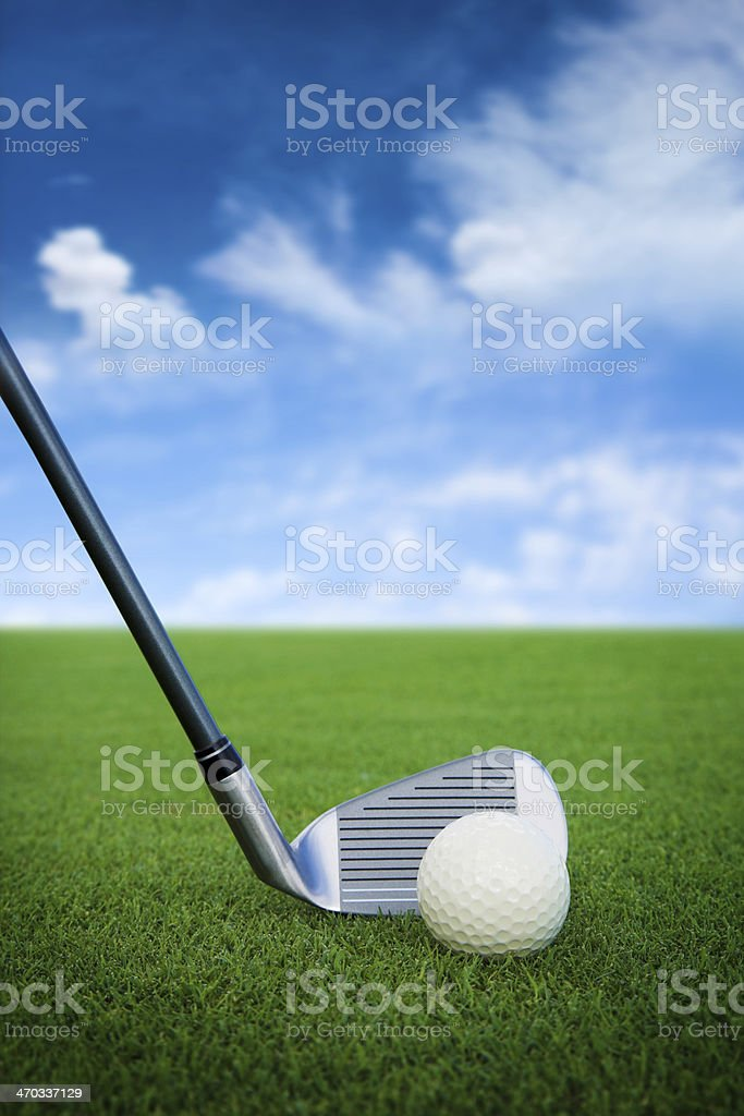 perfect day for golf playing royalty-free stock photo