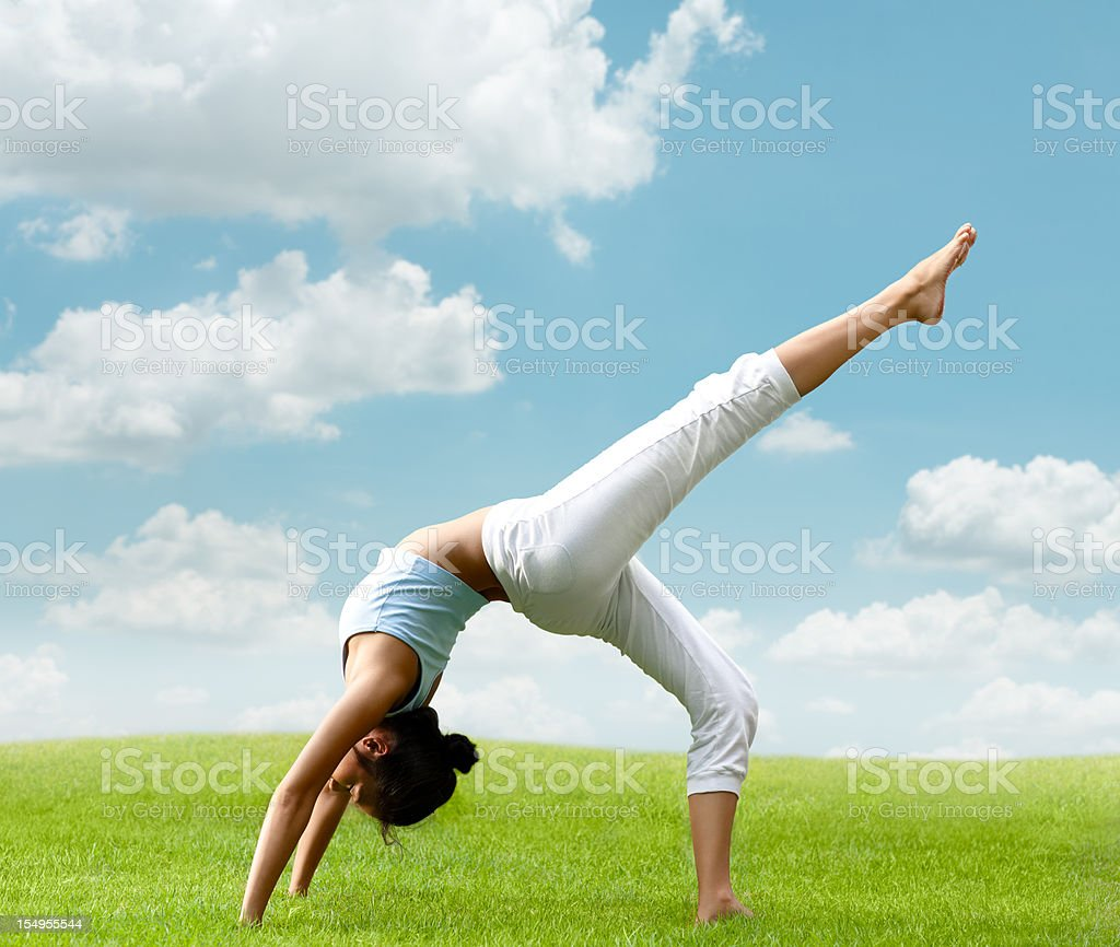 Perfect Day for Yoga royalty-free stock photo