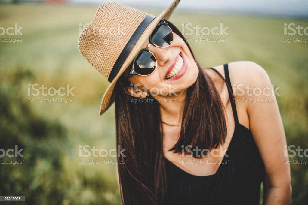 Perfect day in beautiful wheat field royalty-free stock photo