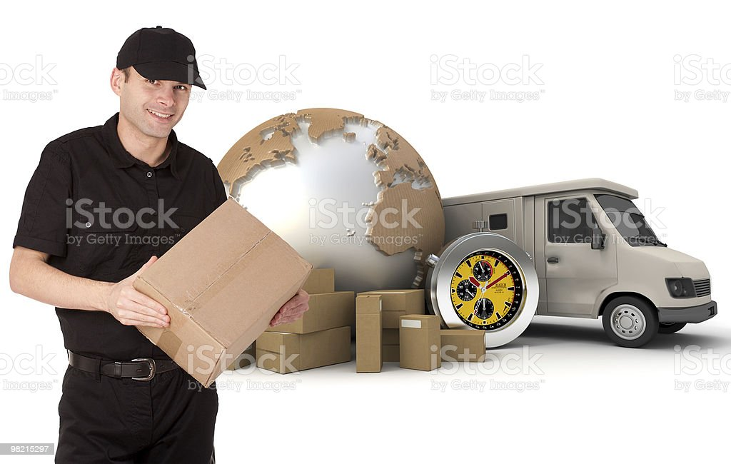 Perfect delivery royalty-free stock photo