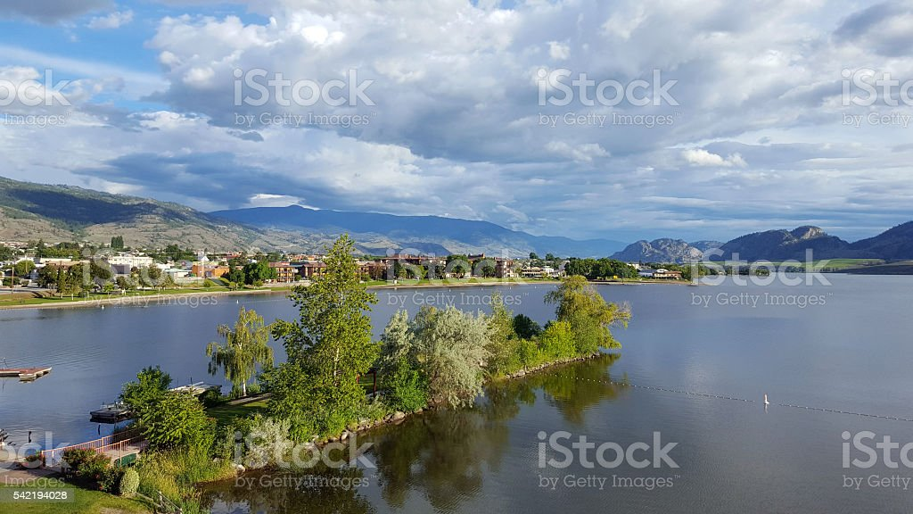 Perfect Early Morning Beauty Of Osoyoos British Columbia stock photo