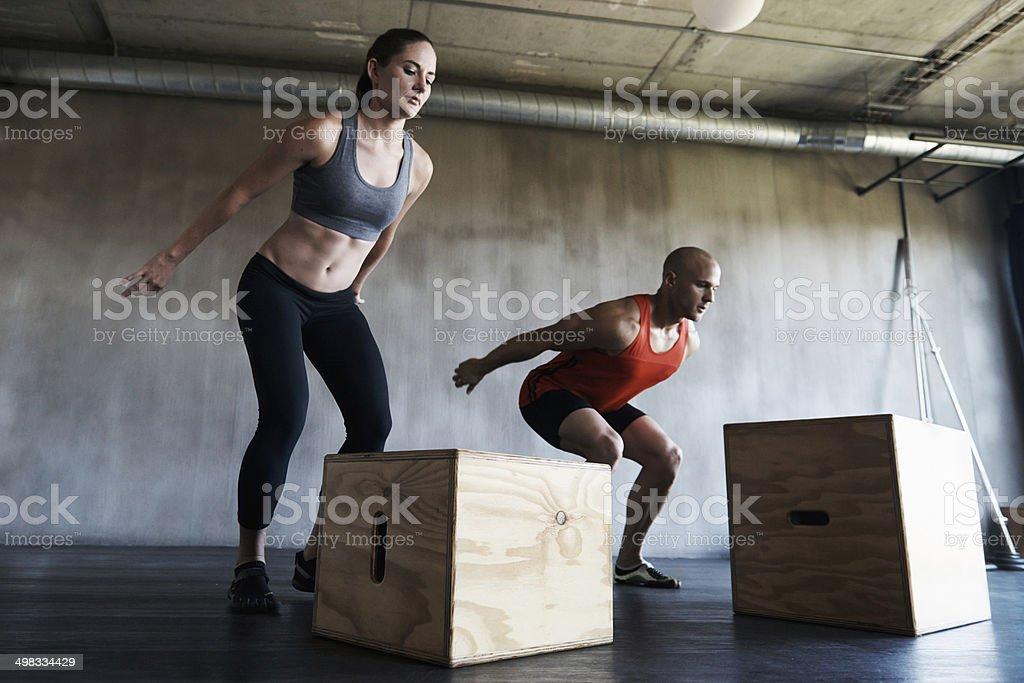 Perfect execution through continual training stock photo
