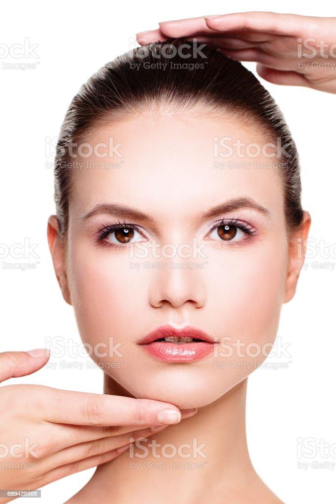 Perfektes Gesicht Einer Schönen Frau Schönheit Und ästhetische