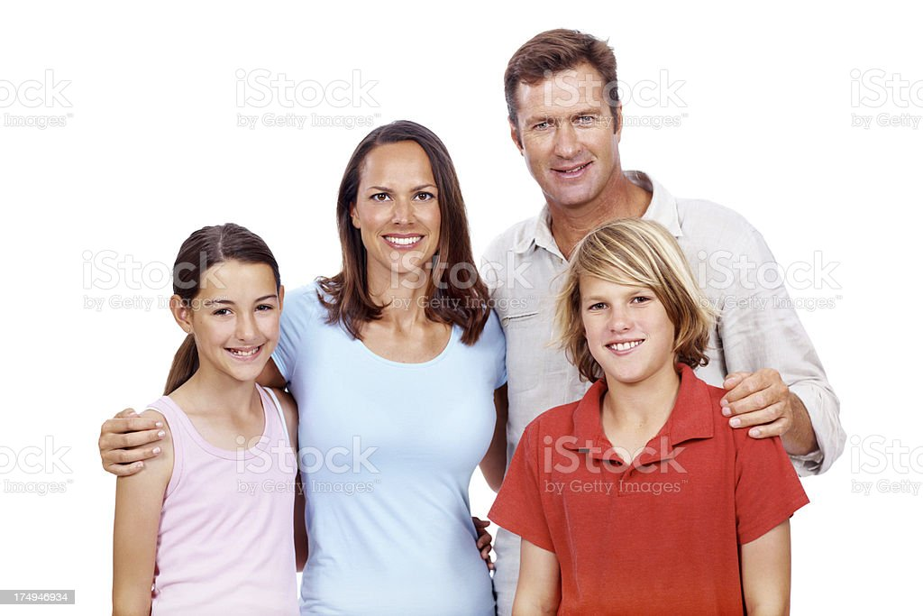 Perfect family portrait royalty-free stock photo