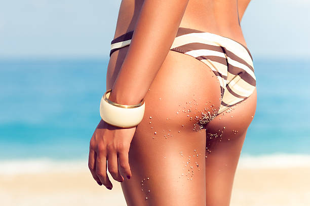 perfect female body - buttock stock photos and pictures