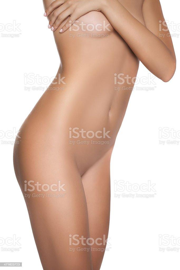 Perfect female body. stock photo