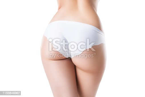 521792753 istock photo Perfect female buttocks isolated on white background 1153846962