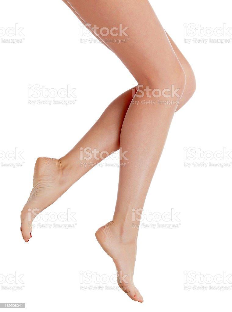 Perfect female legs stock photo