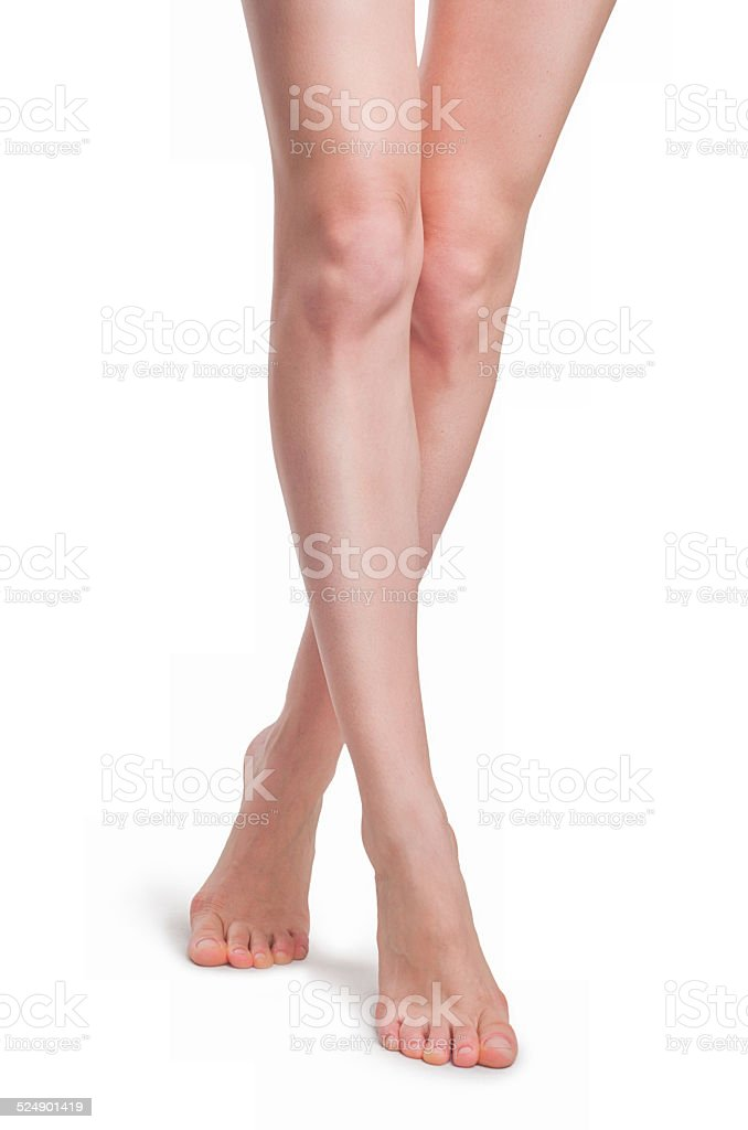 Perfekte weibliche Beine Lizenzfreies stock-foto