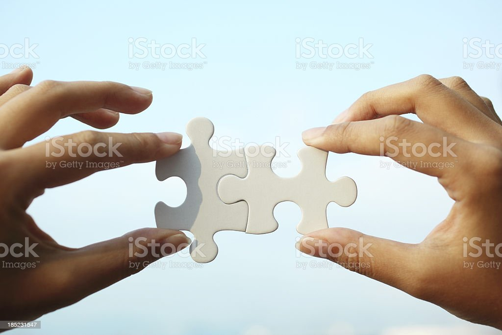 Perfect Fit Puzzle stock photo