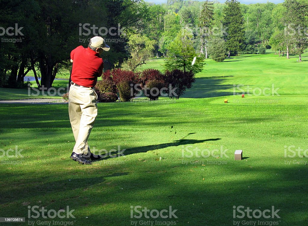 Perfect follow through stock photo