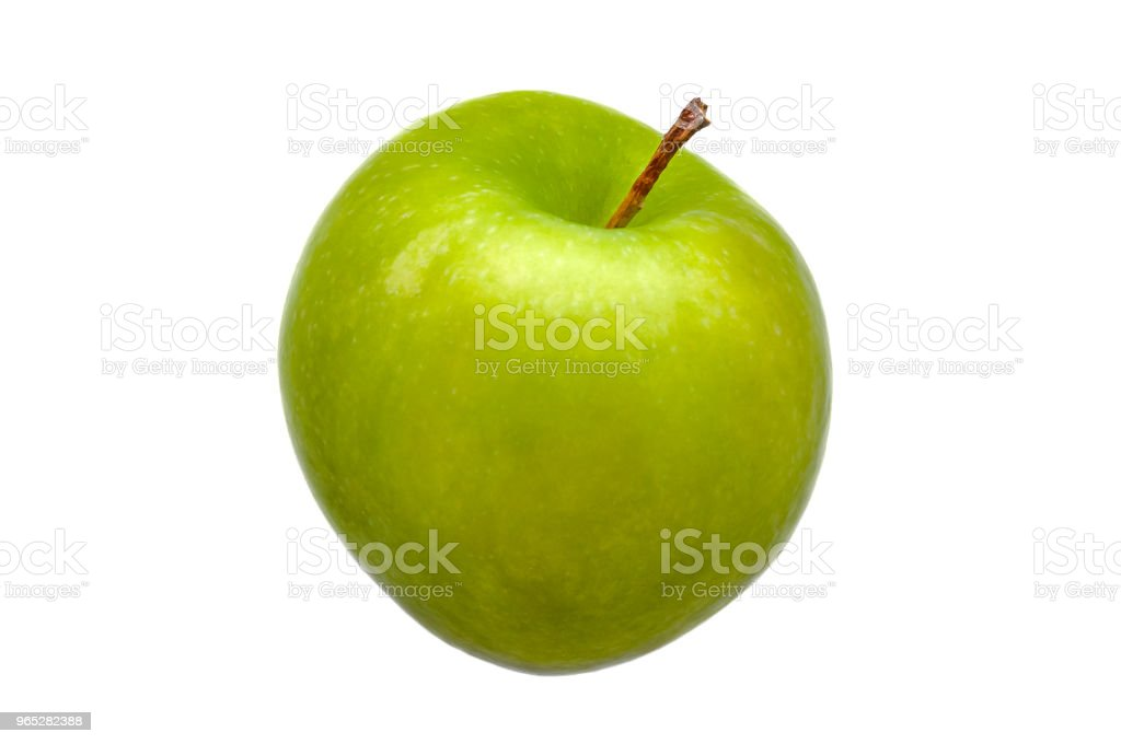 Perfect Fresh Green Apple Isolated on White Background. royalty-free stock photo