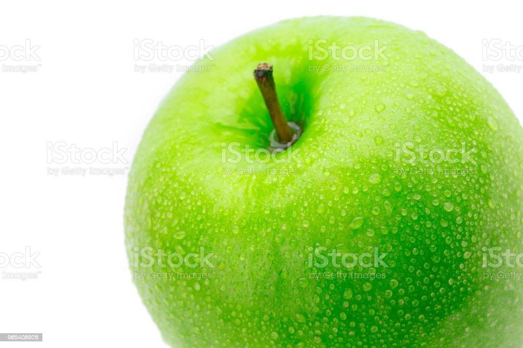 완벽 한 신선한 녹색 사과 흰 배경에 고립 - 로열티 프리 건강한 생활방식 스톡 사진