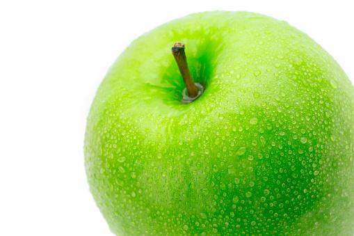 완벽 한 신선한 녹색 사과 흰 배경에 고립 건강한 생활방식에 대한 스톡 사진 및 기타 이미지
