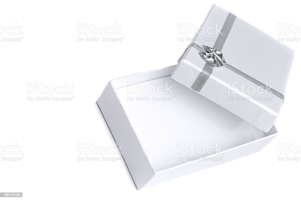 Perfect gift box royalty-free stock photo