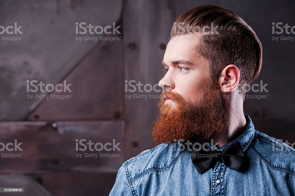Perfect hairstyle. stock photo