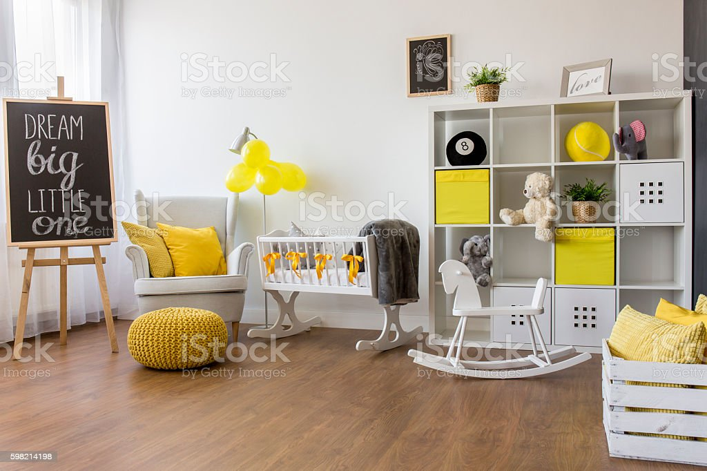 Perfect idea for a unisex nursery foto royalty-free