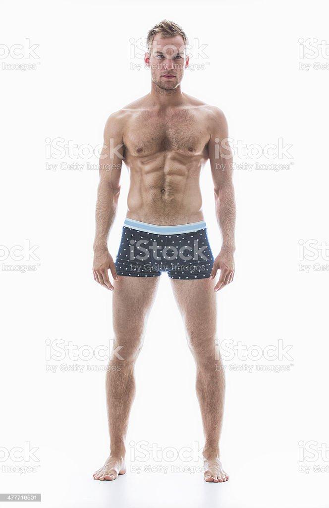 Perfect in his polka dot undies stock photo