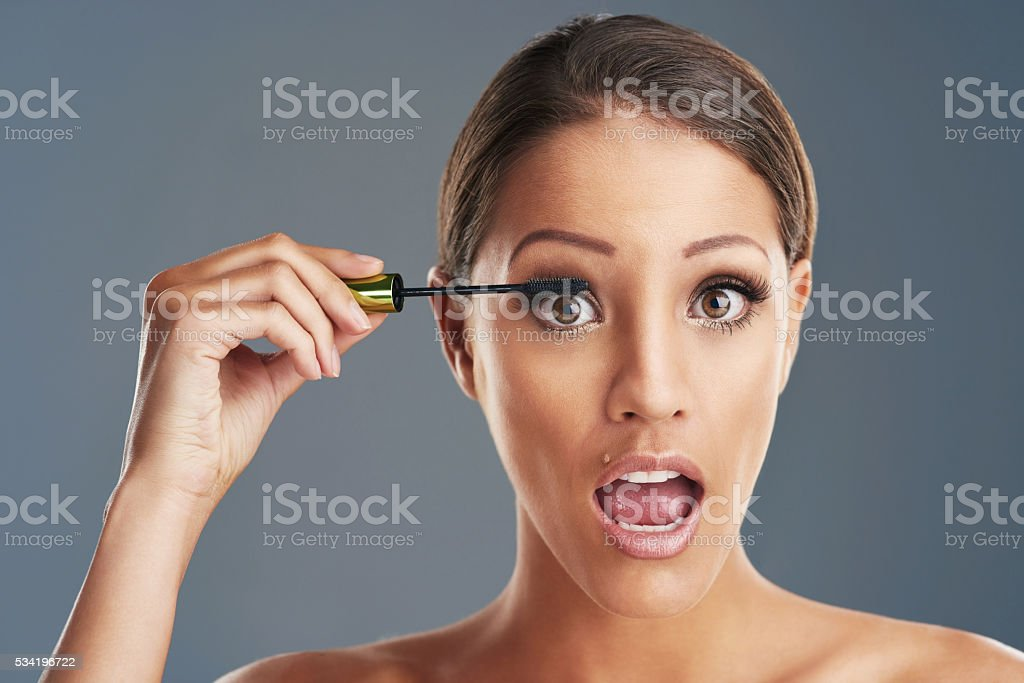 Perfect lashes complete any look stock photo