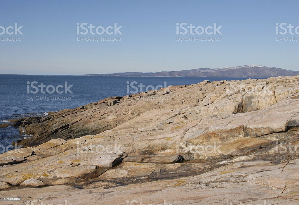 Perfect late winter morning at Schoodic Point royalty-free stock photo