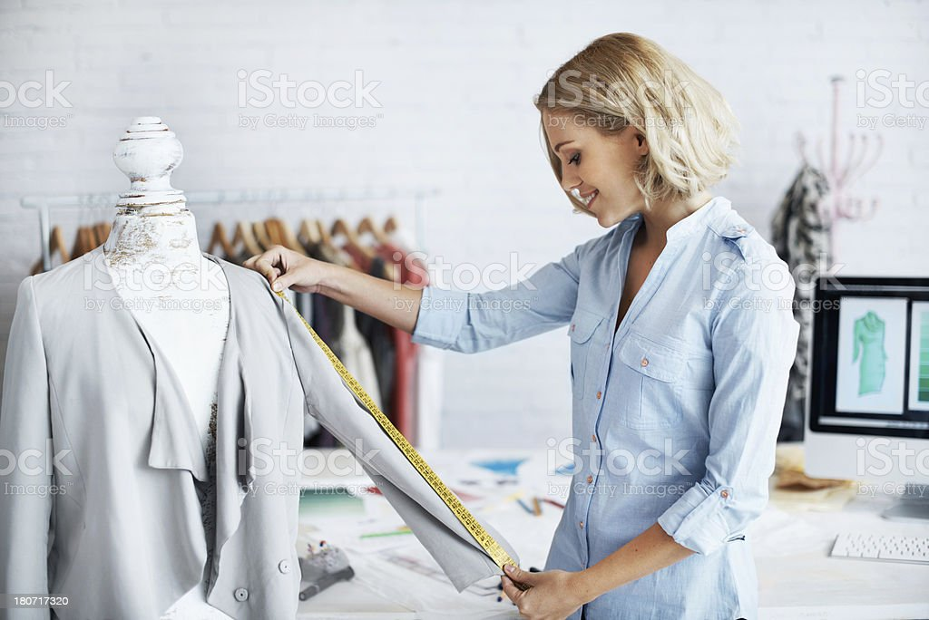 Perfect length stock photo