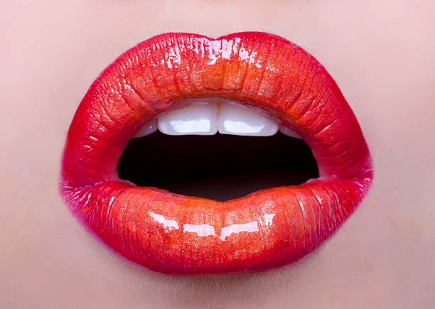 perfect lips - human lips stock photos and pictures