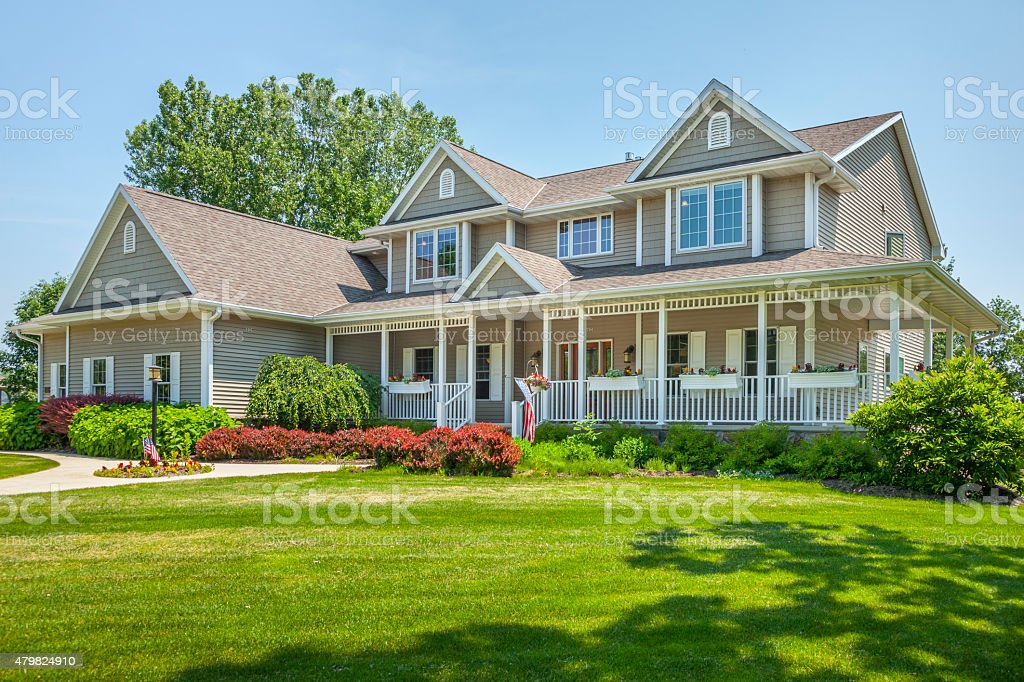 Perfect, Maintenance Free Home With Covered Porch stock photo