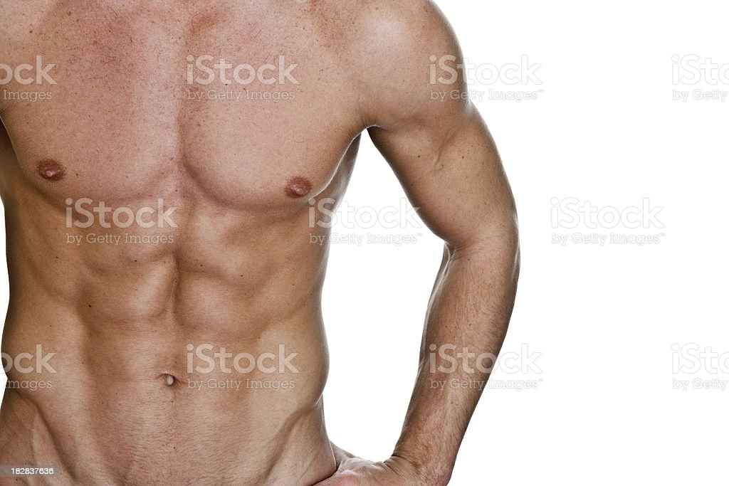 Perfect male torso royalty-free stock photo