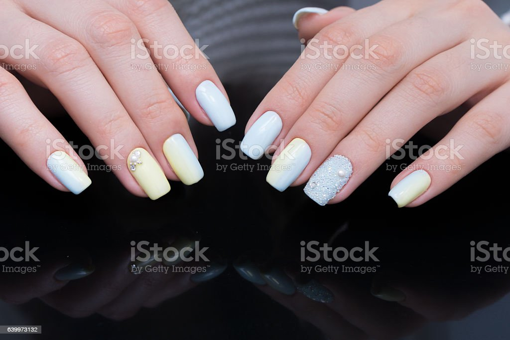 Perfect Manicure And Natural Nails Attractive Modern Nail Art Design