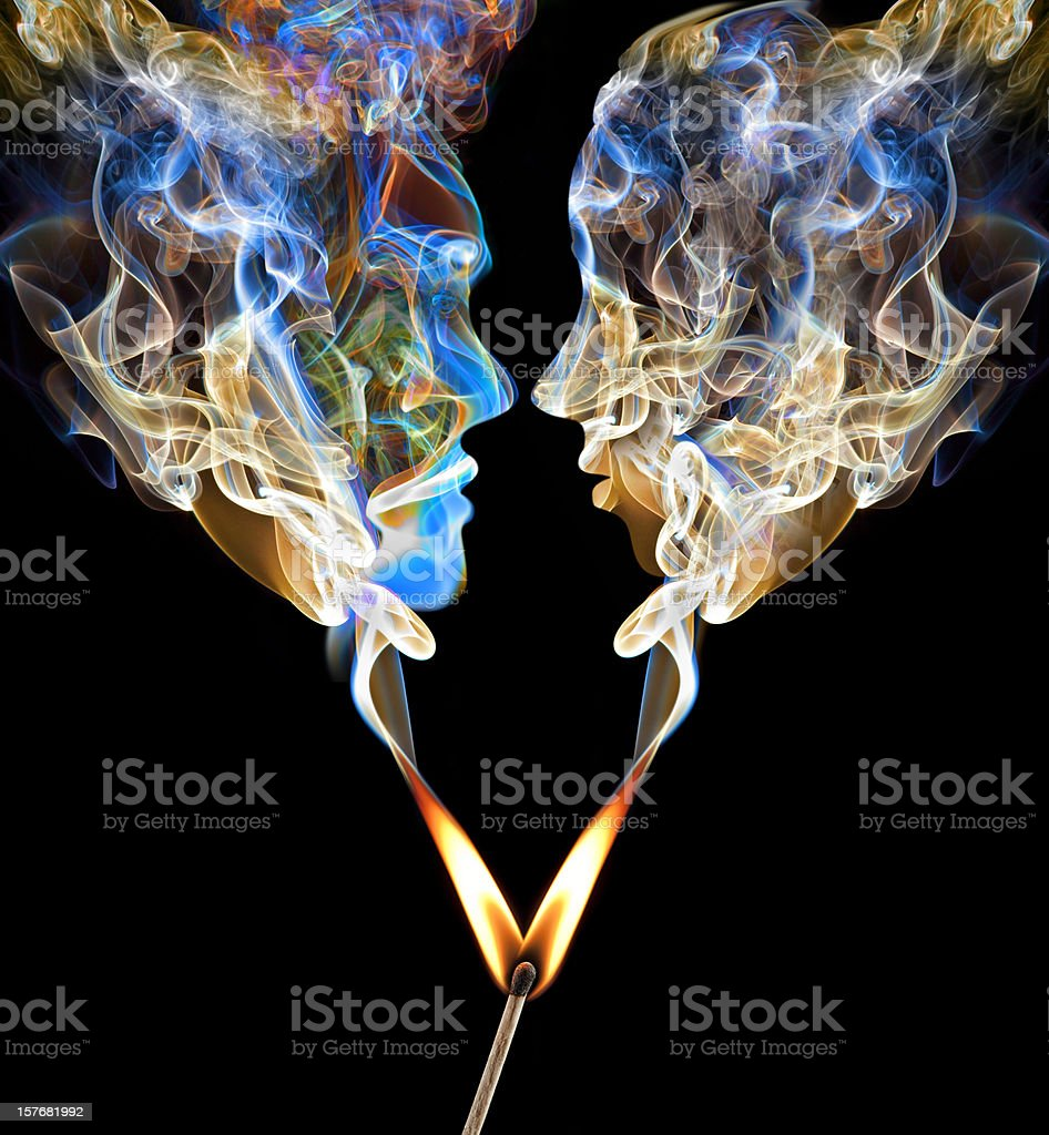 Perfect Match Up in Smoke stock photo