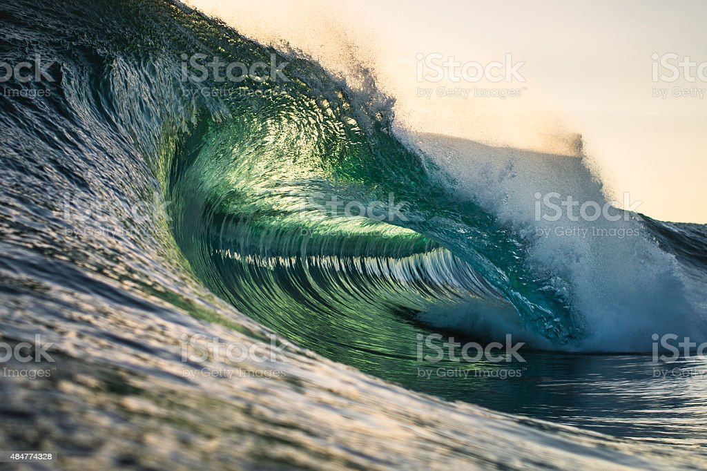 Perfect Morning Wave stock photo