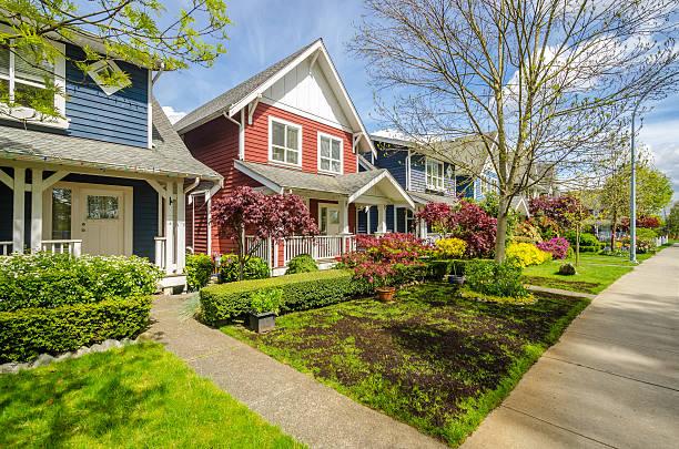 perfect neighbourhood - vancouver canada stockfoto's en -beelden