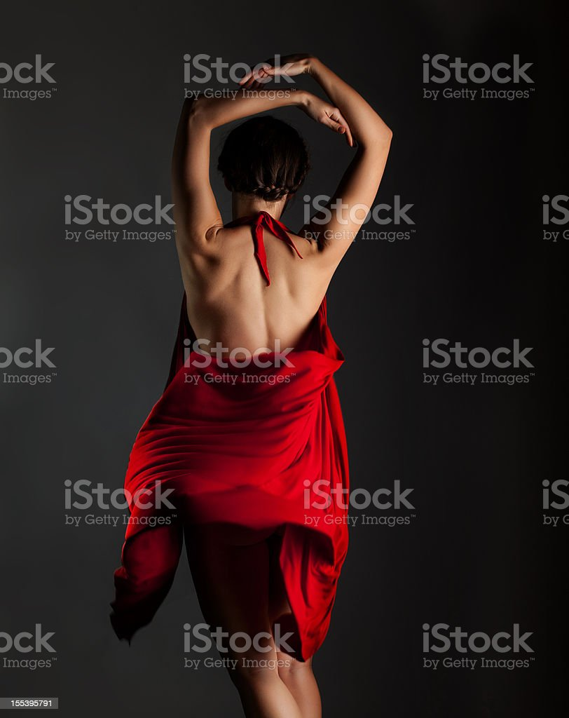 Perfect nude dancing girl torso royalty-free stock photo
