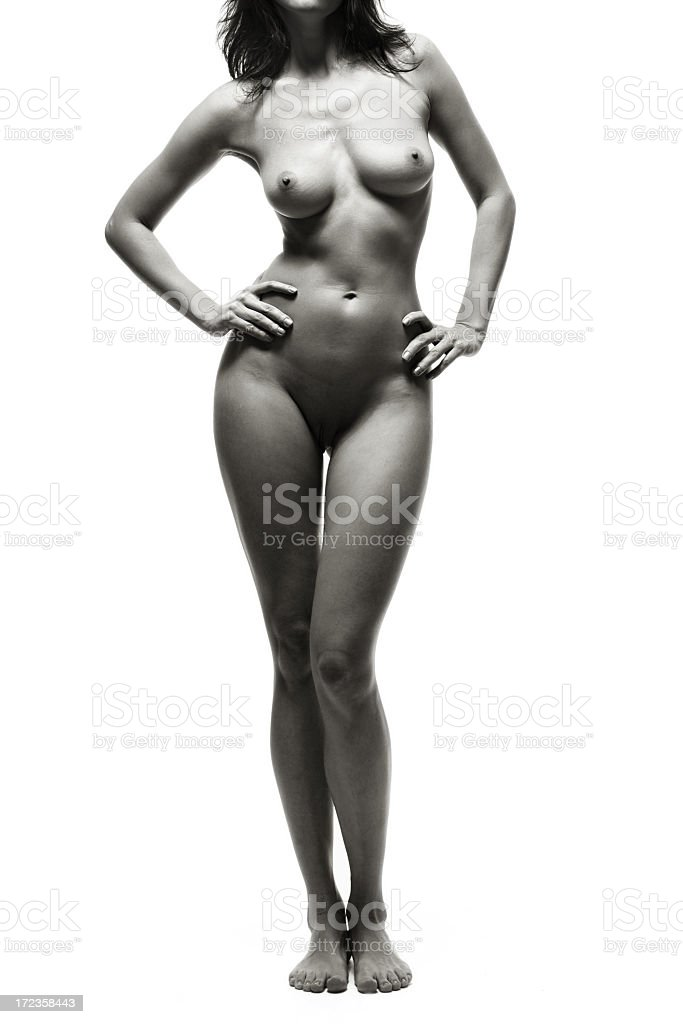 Perfect nude girl torso royalty-free stock photo