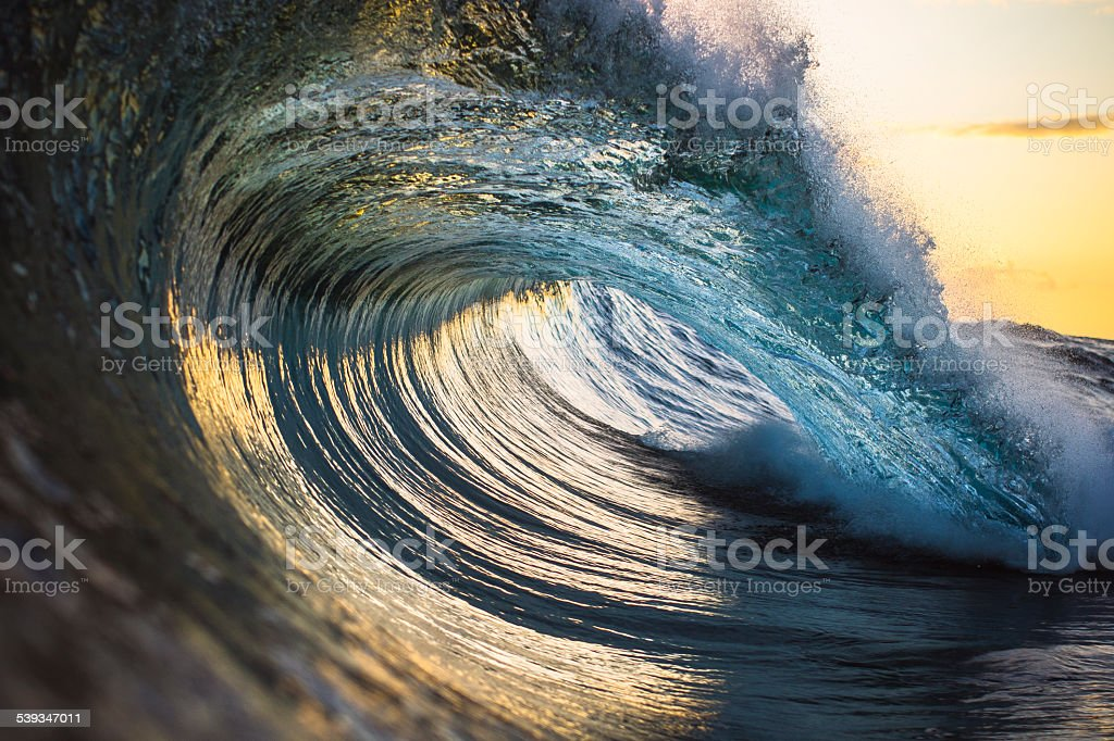 Perfect ocean wave stock photo