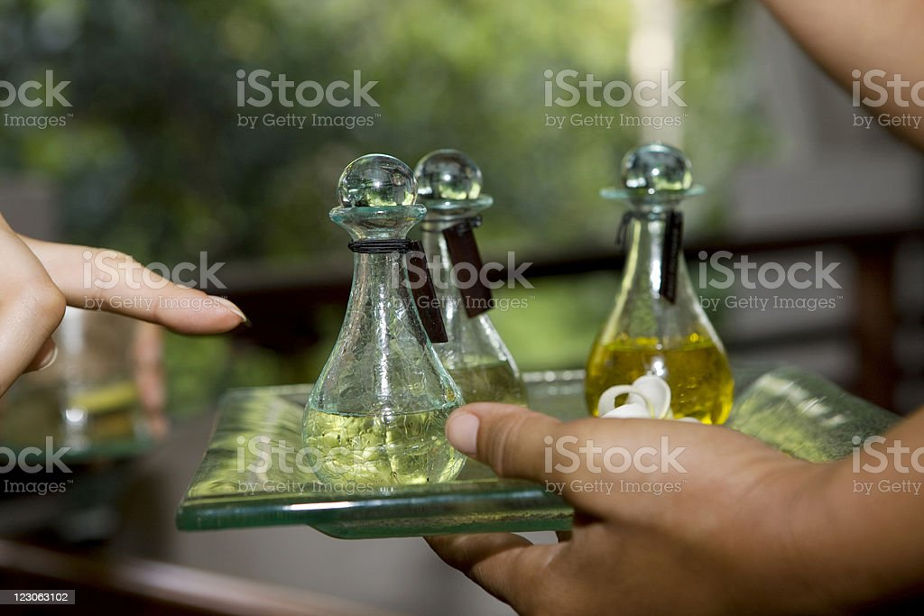 Perfect oil massage royalty-free stock photo