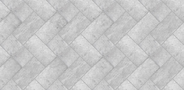 Perfect old stone pavement seamless pattern - high resolution texture useful for renderings applications stock photo