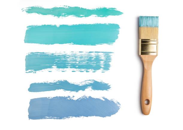 Perfect paintbrush on white background stock photo