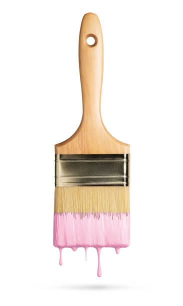 Perfect paintbrush on white with clipping path stock photo