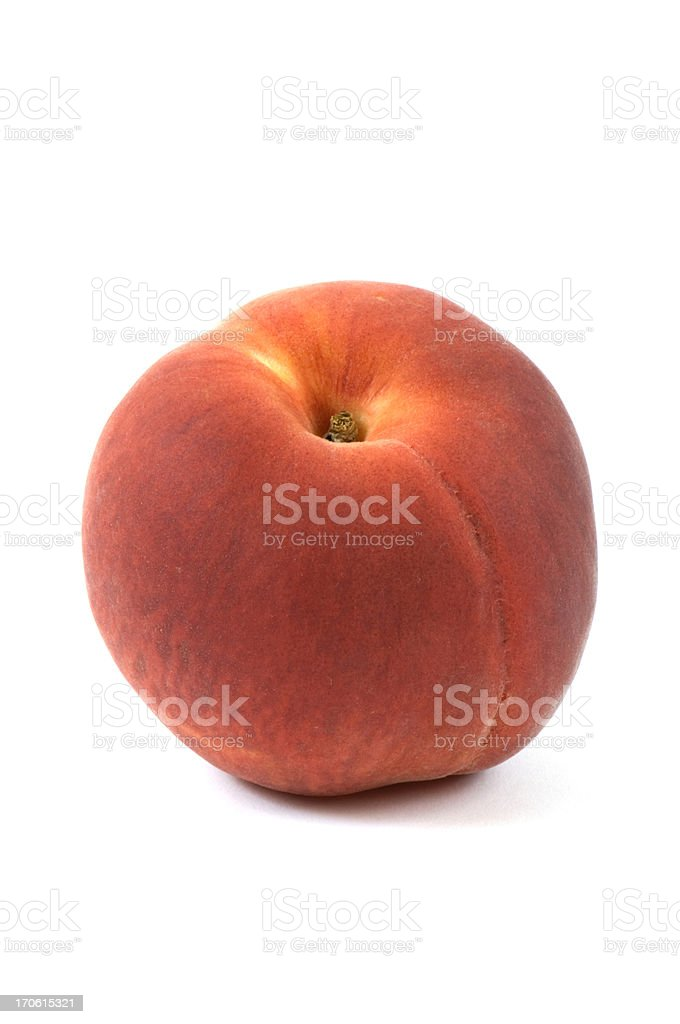 Perfect Peach Vertical Isolated on White Background royalty-free stock photo