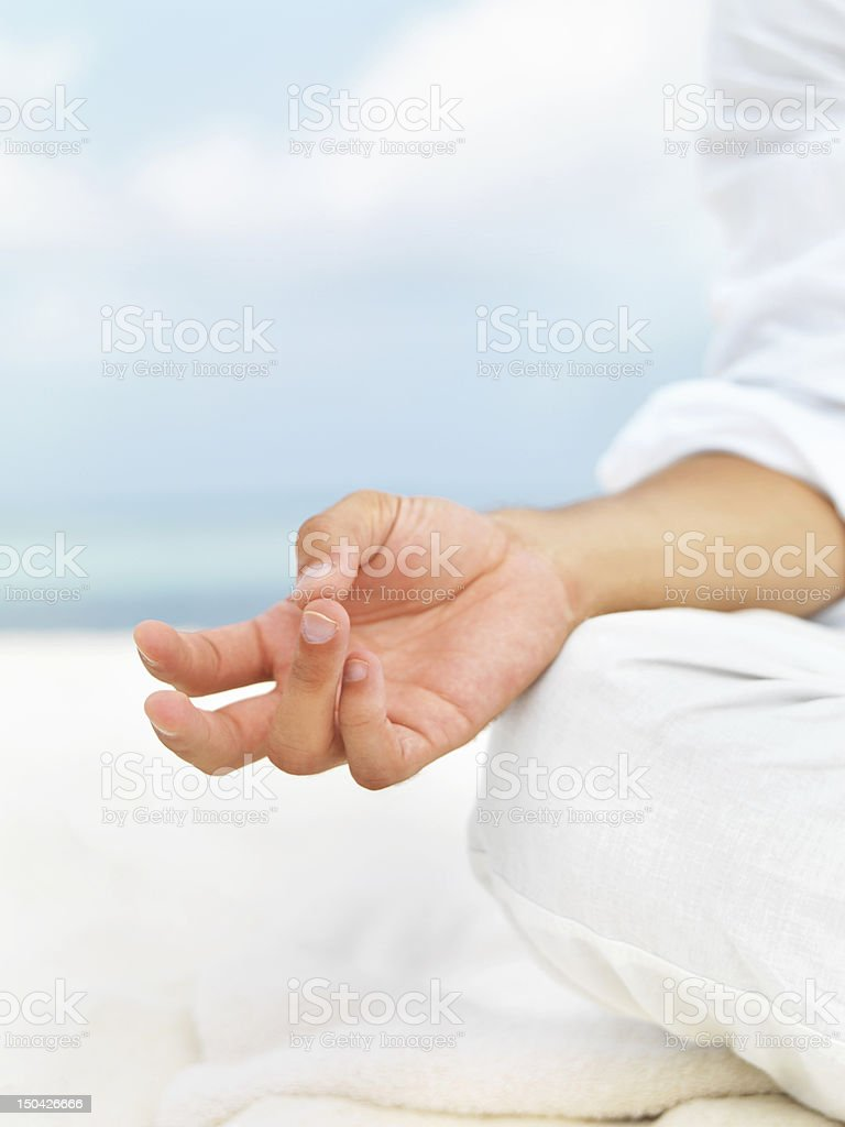 Perfect positioning royalty-free stock photo