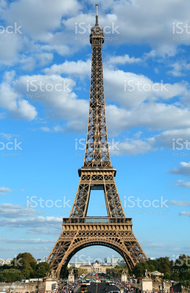 Perfect Poster Of The Eiffel Tower In Paris In France Vertically Stock Photo Download Image Now Istock