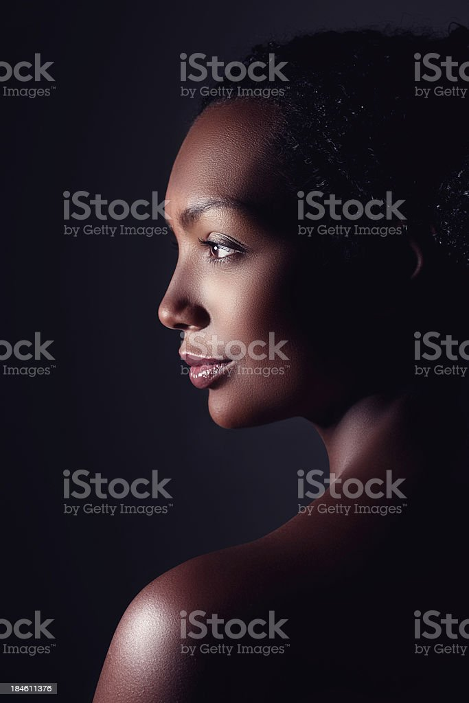 Perfect profile stock photo