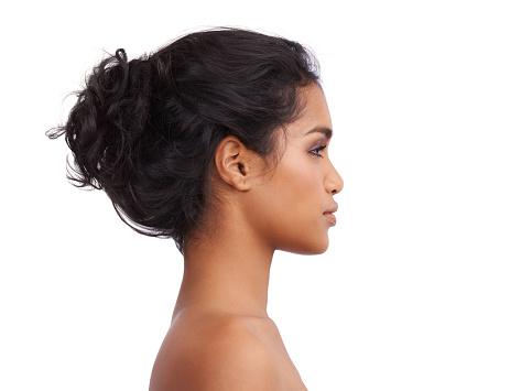 Closeup portrait of a beautiful young ethnic woman