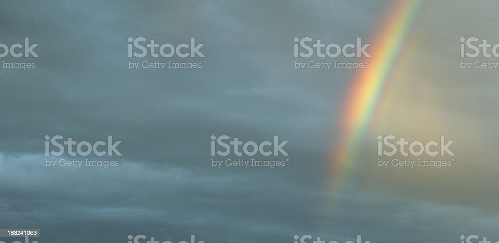 perfect rainbow royalty-free stock photo